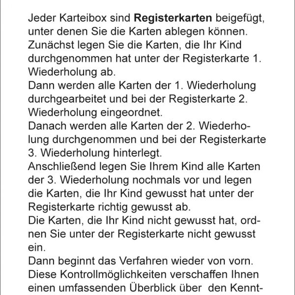Karteikarten Deutsch Kl.1, vierfarbig, Deutsch
