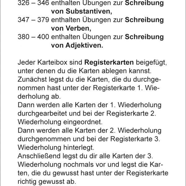 Karteikarten Deutsch Kl.3, vierfarbig, Deutsch