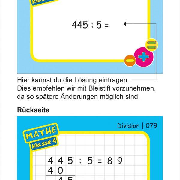 Karteikarten Mathe Kl.4, vierfarbig, Mathe