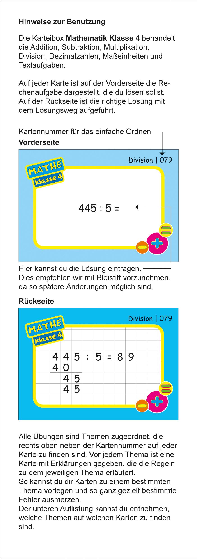 Karteikarten Mathe Kl.4, vierfarbig, Mathe - ademo Verlag